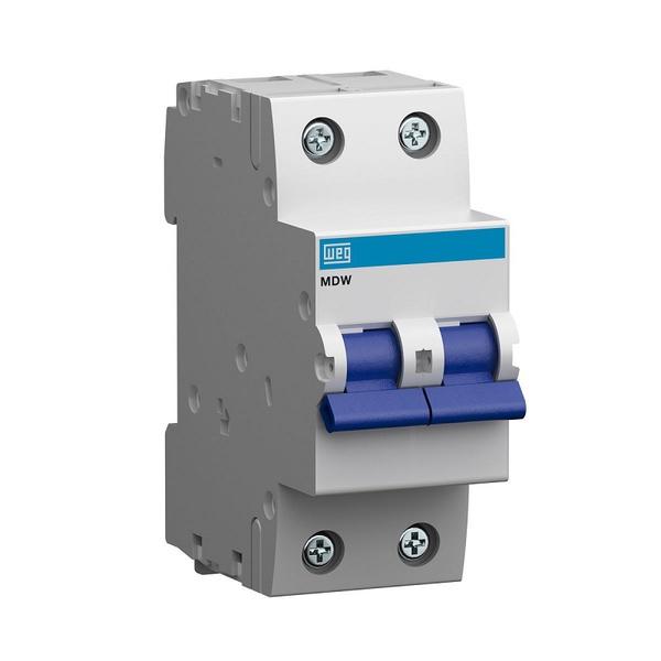 Mini Disjuntor Termomagnético Bipolar 6A/C MDW-C6-2 10076399 - WEG