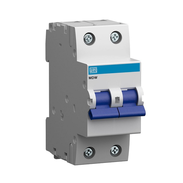 Mini Disjuntor Termomagnético Bipolar 80A/C MDW-C80-2 10076471 - WEG