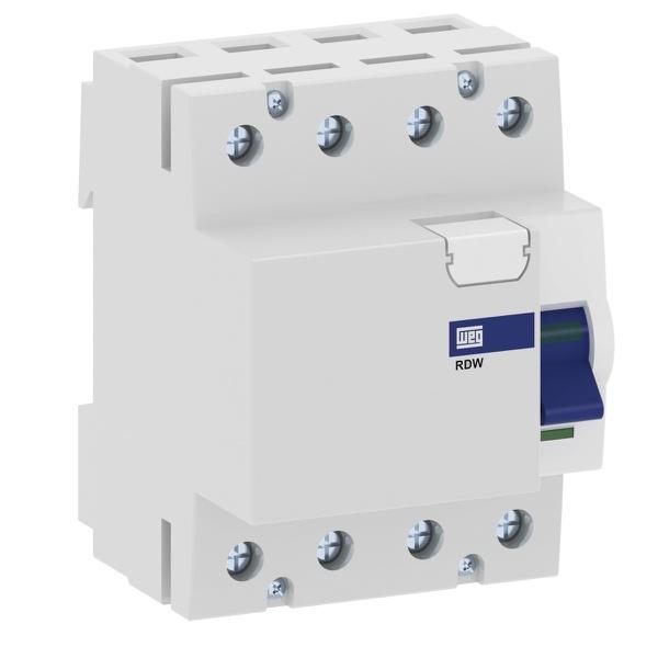 Dispositivo DR 4P 40A 30MA RDW RDW-30-40-4-D17 - 13979341- WEG