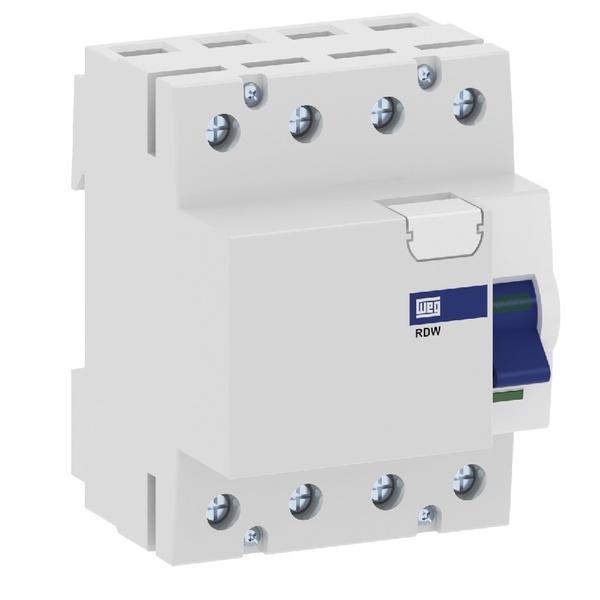 Dispositivo DR 4P 63A 30MA RDW RDW-30-63-4-D17 - 13979342- WEG