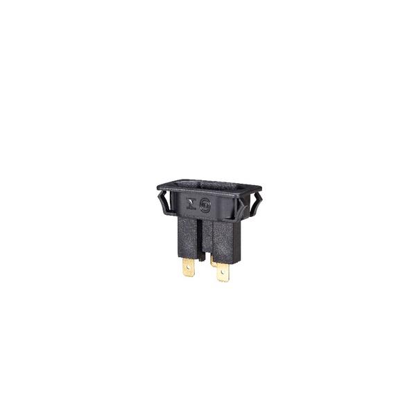 Tomada para relés 2P+T 10A - Preta TPA2-3 E3F 13164 BS1 com suporte metálico - MAR GIRIUS