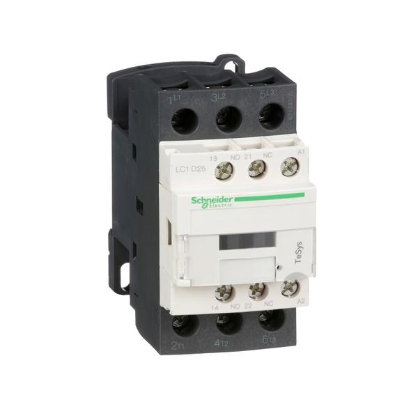 Contator tripolar LC1D25B7 24V 25A - Schneider