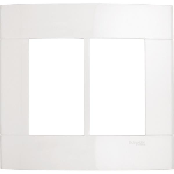 Placa 4x4 6 Módulos Branco PRM044461 Decor - Schneider