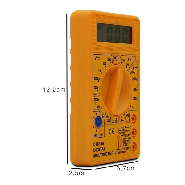 Multímetro Digital Medição De Tensão Com Visor Lcd Dt-830