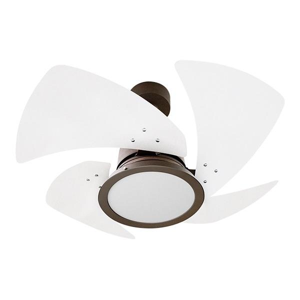 Venti-Delta Ventilador de Teto Tornado LED 4 Pás Laqueadas 127 V C3V, 614113, 130 W, Marron/Branco