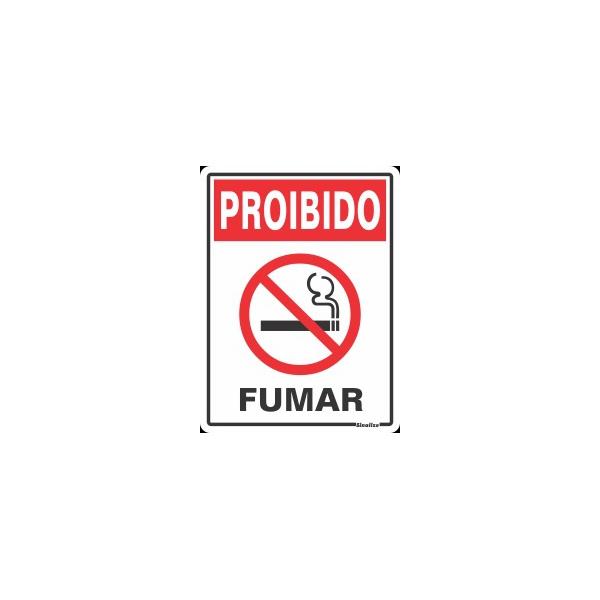 "Placa Poliestireno 15X20 ""PROIBIDO FUMAR"" - SINALIZE"
