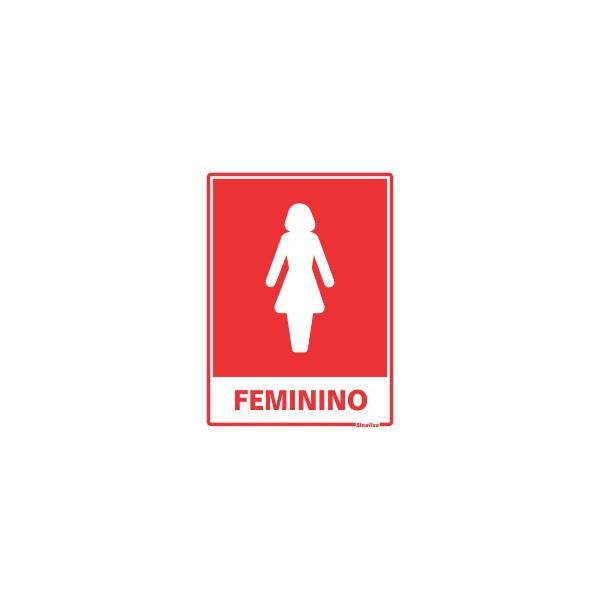 """Placa Poliestireno 15X20 """"SANITÁRIO FEMININO"""" - SINALIZE"""