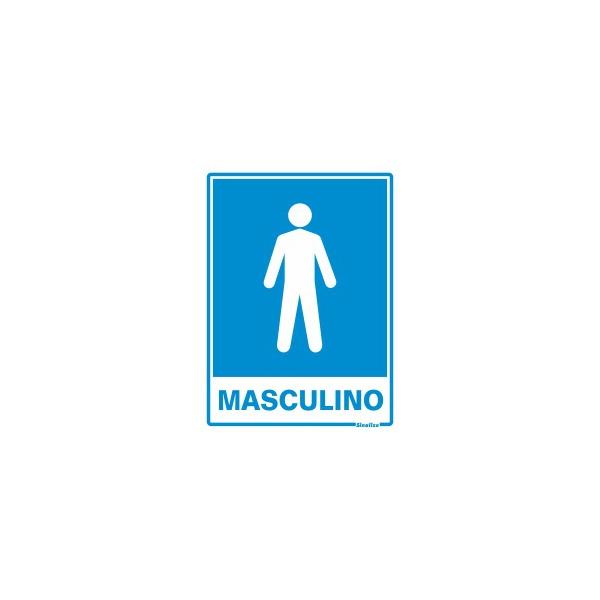 "Placa Poliestireno 15x20 ""SANITÁRIO MASCULINO"" - SINALIZE"