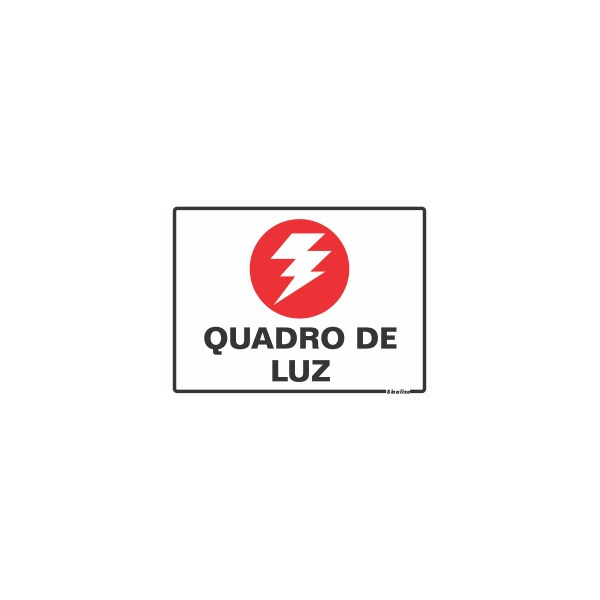"Placa Poliestireno 15X20 ""QUADRO DE LUZ"" 220AL - SINALIZE"