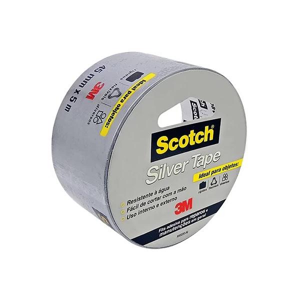 Fita adesiva multiuso 45mmx05m silver tape Scotch 3M