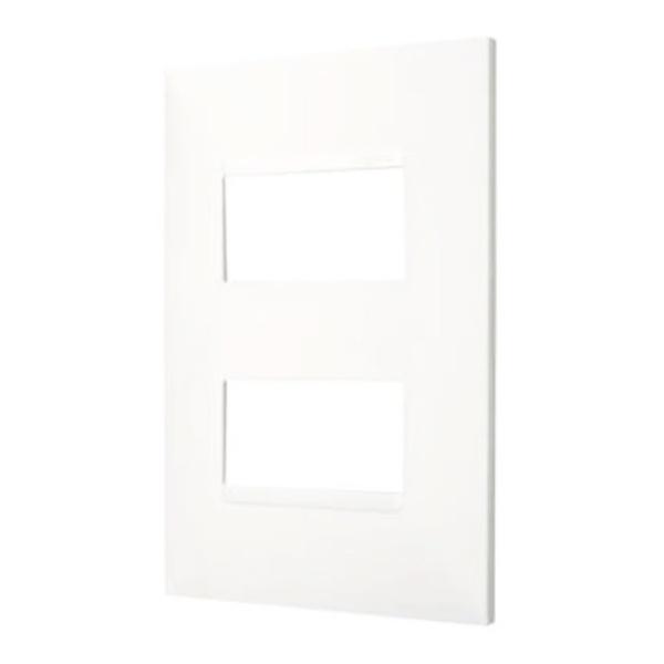 Placa 4x2 Horizontal para 1 Módulo 618506BC Pial Plus+