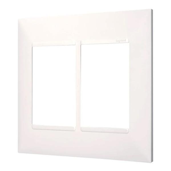 Placa 4x4 2+2 Postos Separados Branca- 618514BC-Pial Plus+