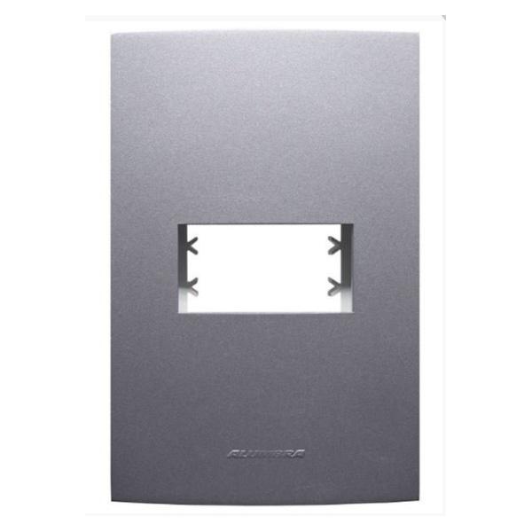 Placa 4x2 1 Mod c/sup Grafite 85476 - INOVA PRO CLASS