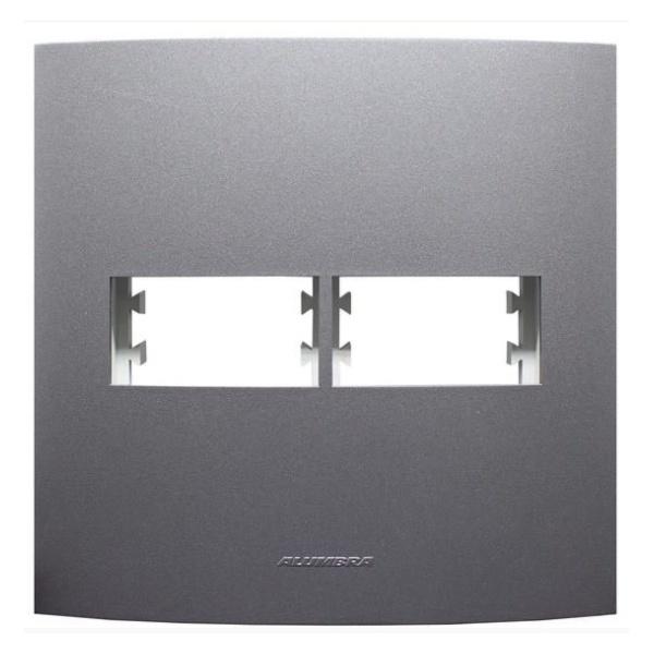 Placa 4x4 2Mod C/sup Grafite 85480 - INOVA PRO CLASS