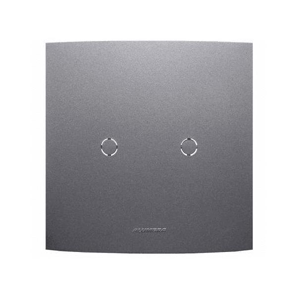 Placa 4x4 Cega c/Suporte Grafite 85483 - INOVA PRO CLASS