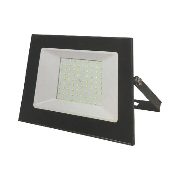 Refletor LED Slim SMD 100w Bivolt 6500K Preto - TASCHIBRA