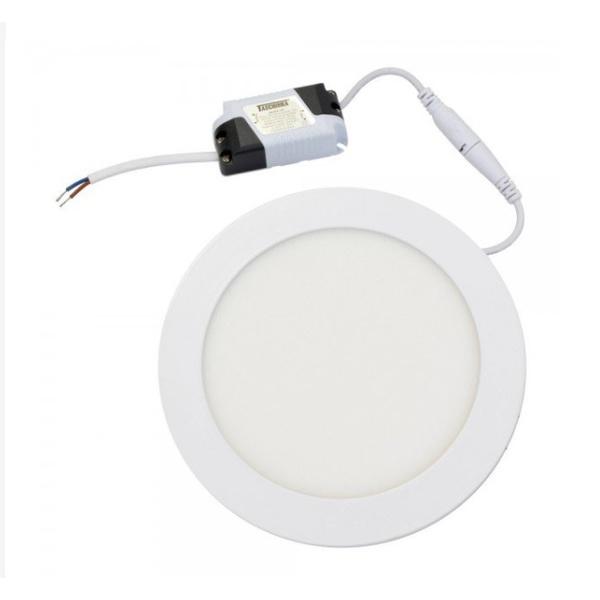 Painel Embutir LED Redondo 12W Bivolt 6500K Taschibra 18110
