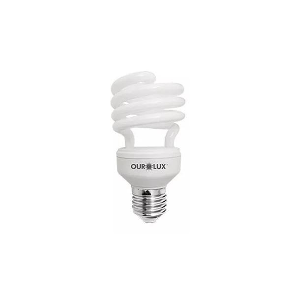 Lâmpada Fluorescente Espiral 4720 T2 20W T2 127v Amarela 2700K - Ourolux