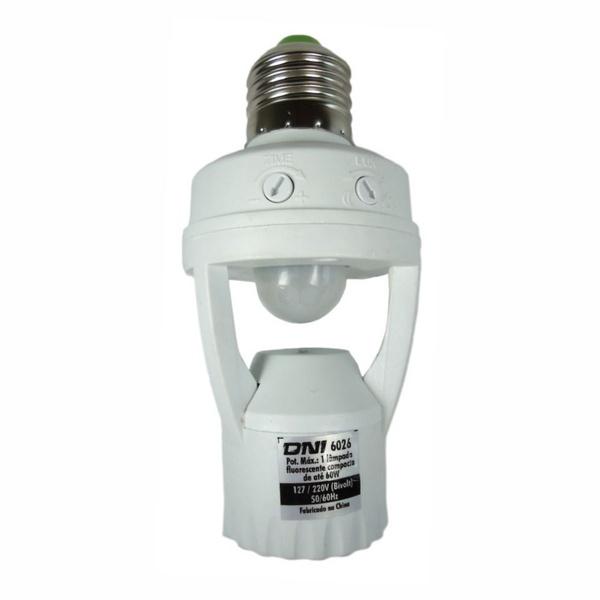 Sensor de Presença Soquete E27 360g com Fotocélula DNI6026