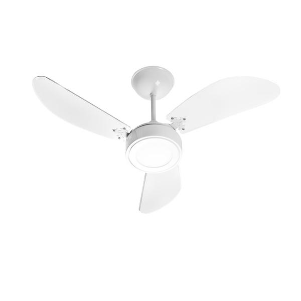 Ventilador NEW LIGHT LED (12W) Branco 3Pas Laqueadas 127V