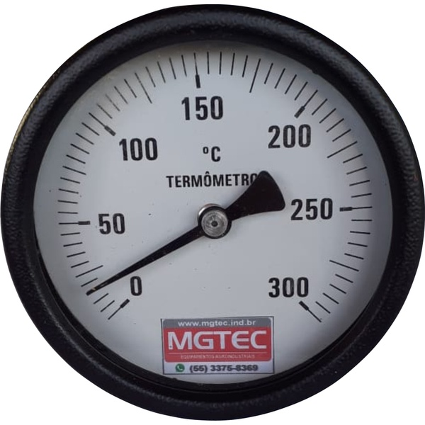 Termômetro para Secador 100mm - 0 a 300ºC - 50cm
