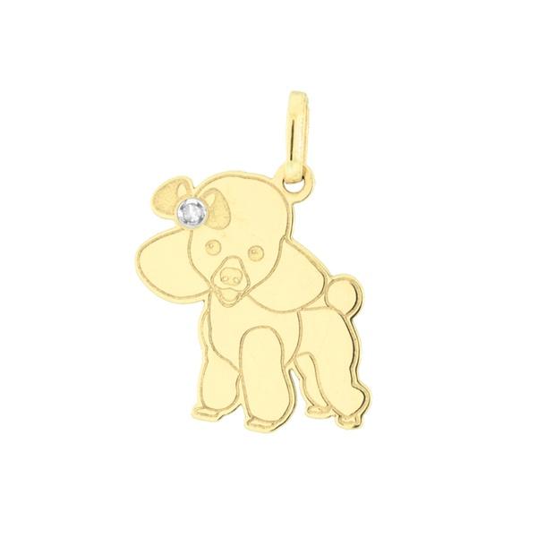 Pingente Cachorro Poodle em Ouro 18K