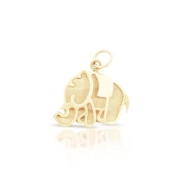 Pingente Elefante Fofo em Ouro 18K