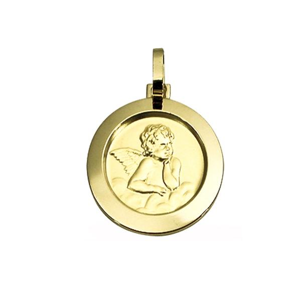 Pingente Medalha Anjo da Guarda em Ouro 18K