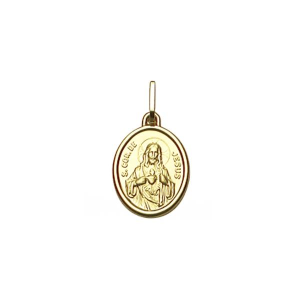 Pingente Sagrado Coração de Jesus em Ouro 18K