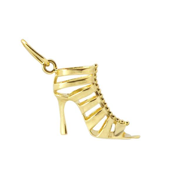 Pingente Sapato Gladiadora em Ouro Amarelo 18K