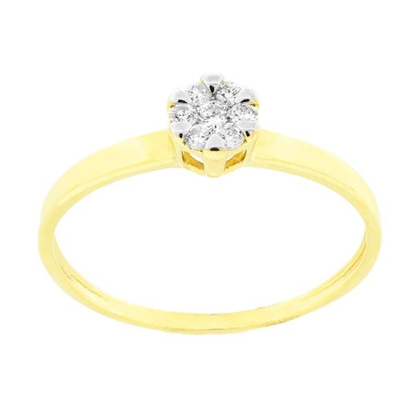 Anel com Diamantes em Ouro 18K