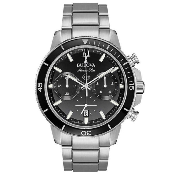 Relógio Bulova Masculino Marine Star Preto