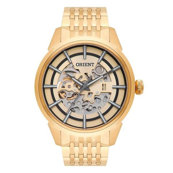 Relógio Orient Masculino Clássico Automático Dourado