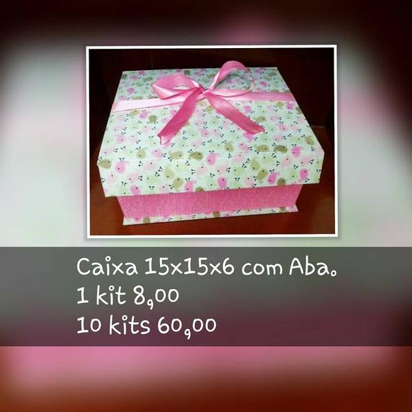 KITS DE CARTONAGEM PARA CAIXA 15X15X10 COM ABA - 10 KITS