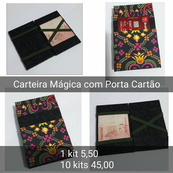 KITS DE CARTONAGEM PARA CARTEIRA MÁGICA - 10 KITS