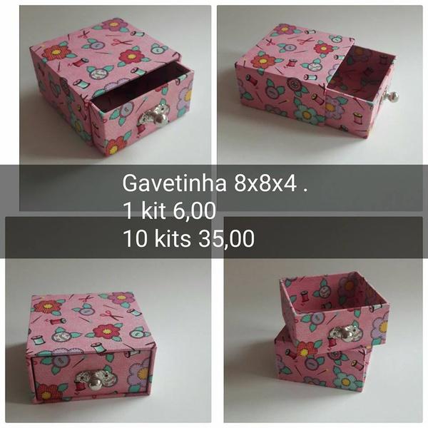 KITS DE CARTONAGEM PARA GAVETINHA 8X8X4