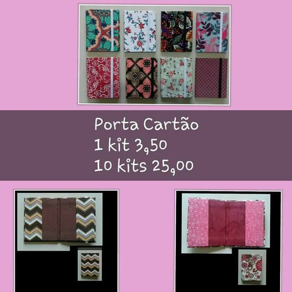 KITS DE CARTONAGEM PARA PORTA CARTÃO- 10KITS