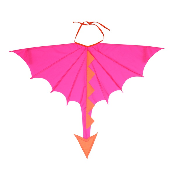 Fantasia asa dragão pink e laranja