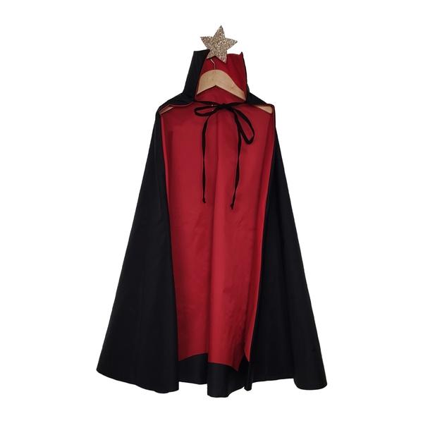 Fantasia Capa vampiro Preto e vermelho