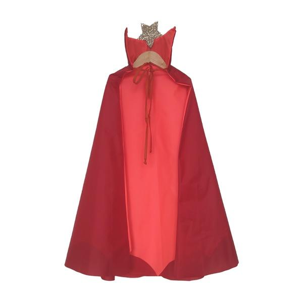 Fantasia Capa vampiro Laranja e vermelho