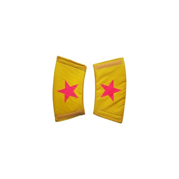 Bracelete estrela amarelo e pink