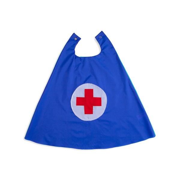 Capa heroi doutor azul e vermelho