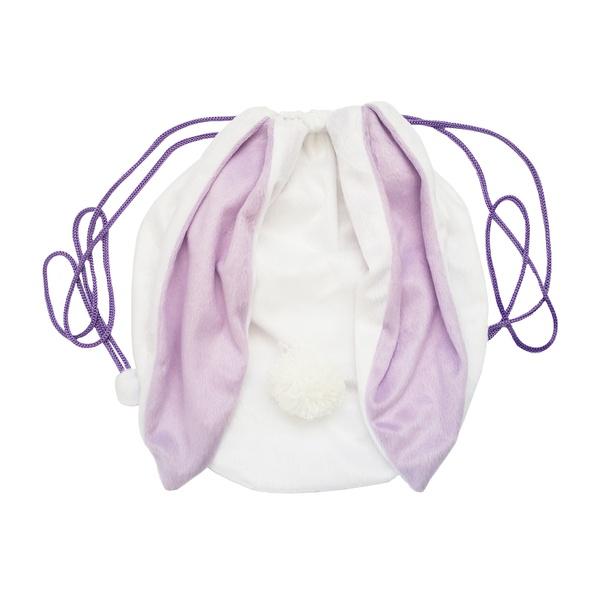 Acessório Mochila coelho Branco e lilás