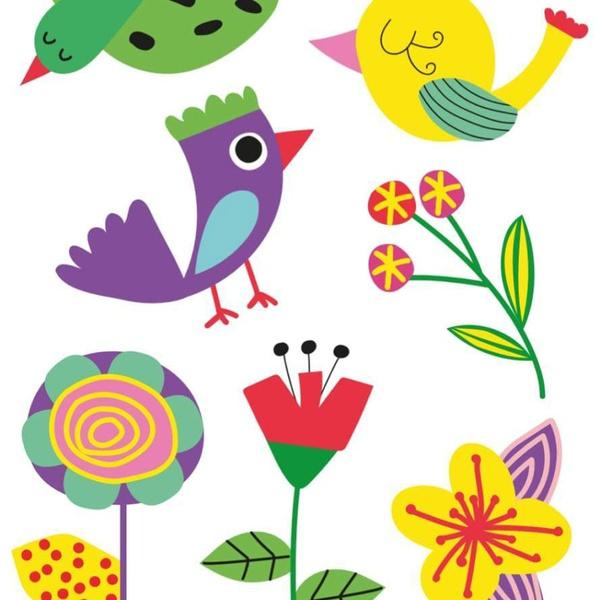 Fantasia Tattoo Temporária Pássaros