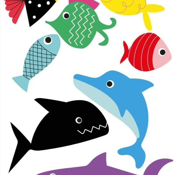 Fantasia Tattoo Temporária Peixes