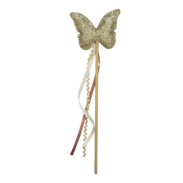 Fantasia Varinha borboleta ouro