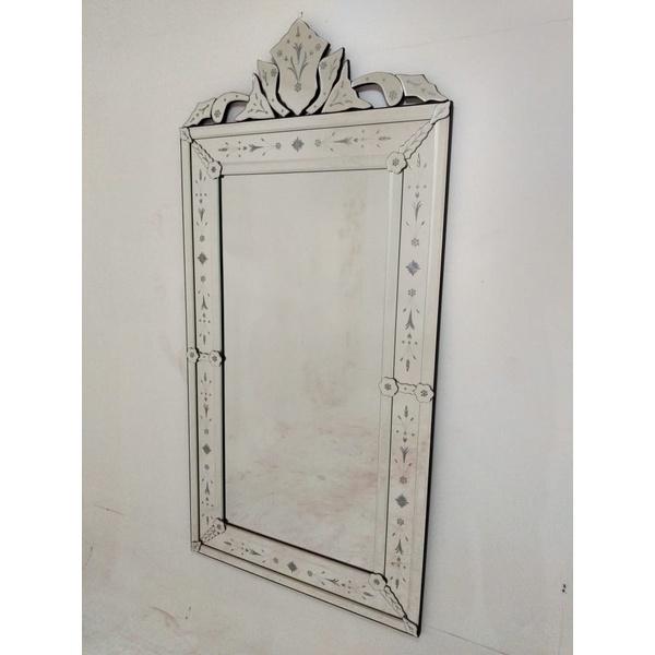 Espelho Pena Grande Antigo - Moldura Trabalhada