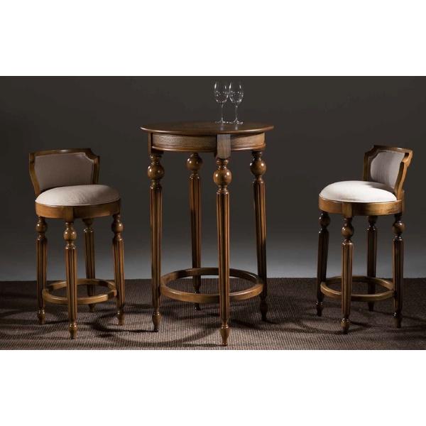 Conjunto Bar Luxo com 2 Banquetas e Mesa