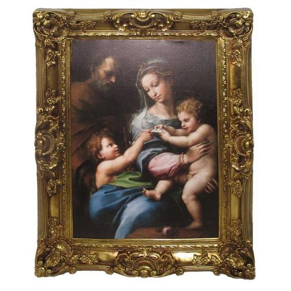 Quadro Clássico - Sacra Famiglia Con San Giovannino o Madonna Della Rosa