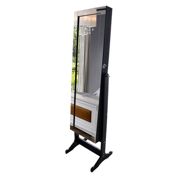 Porta Joias Com Espelho - Preto
